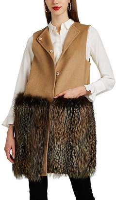 Barneys New York Women's Fur-Trimmed Wool-Cashmere Vest