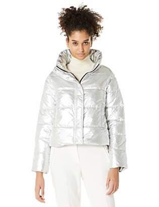 Royal Matrix Women's Metallic Puffer Jacket Winter Lightweight Coats (
