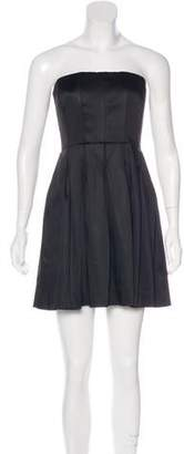 Calvin Klein Collection Strapless Satin Dress