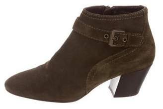 Aquatalia Suede Round-Toe Booties