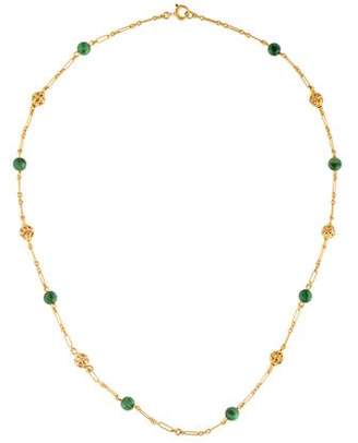 Vintage 14K Bead Station Necklace
