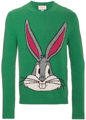 Gucci Bugs Bunny Guccy knitted wool sweater