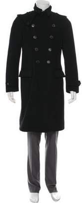 Salvatore Ferragamo Double-Breasted Virgin Wool Coat