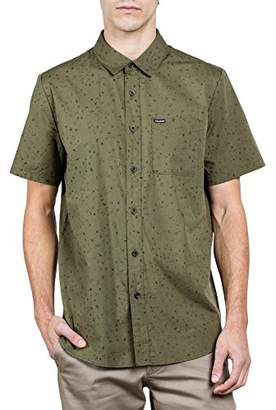 Volcom Young Men's Men's Smashed Start Button Up Short Sleeve Shirt Shirt