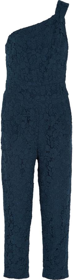 J.Crew Collection one-shoulder guipure lace jumpsuit