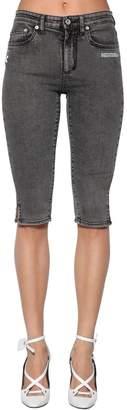 Off-White Off White Skinny Cropped Capri Cotton Denim Jeans