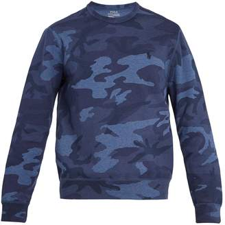 Camouflage-print cotton-blend sweatshirt