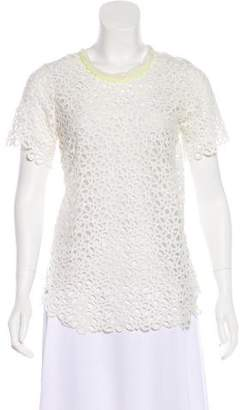 Piece d'Anarchive Crochet Short Sleeve Top