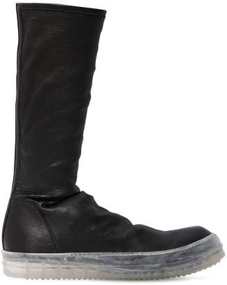Rick Owens Black Clear Sole Sneakers
