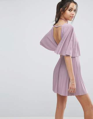 ASOS Pleated Open Back Mini Dress $46 thestylecure.com