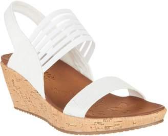 Skechers Sling Back Stretch Wedge Sandals - Smitten Kitten