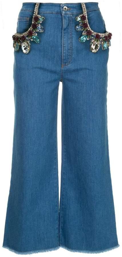 crystal-embellished jeans