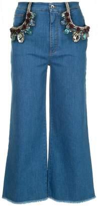 Dolce & Gabbana crystal-embellished jeans