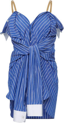 Maison Margiela Striped Cotton-Poplin Camisole Convertible Shirt