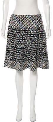 Oscar de la Renta Knee-Length Boucle Skirt w/ Tags Blue Knee-Length Boucle Skirt w/ Tags