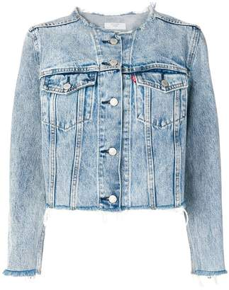 Levi's collarless denim jacket