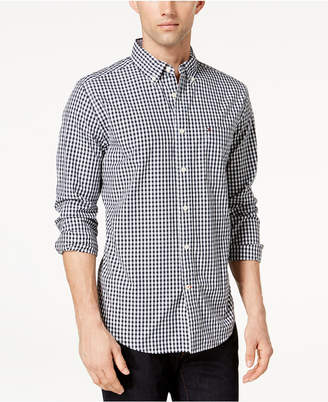 Tommy Hilfiger Men Long-Sleeve Twain Gingham Check Classic Fit Shirt