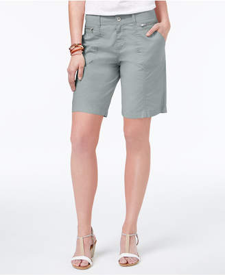 Style&Co. Style & Co Petite Zip-Detail Shorts, Created for Macy's