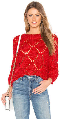 Lovers + Friends Open Weave Sweater