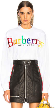 Burberry Rainbow Logo Terry Sweatshirt