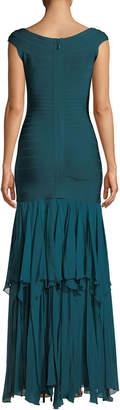 Herve Leger Augustina V-Neck Bandage Gown