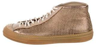 Burberry Fingall High-Top Sneakers