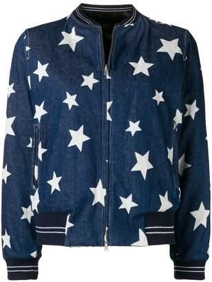 Liska star print denim jacket