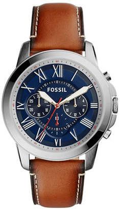Fossil Chronograph Grant Leather Watch