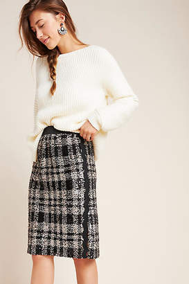 Anna Sui Alice Plaid Sequin Pencil Skirt