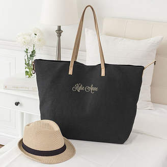 Cathy's Concepts CATHYS CONCEPTS Personalized Black Overnight Tote