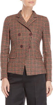 Blugirl Mini Check Double-Breasted Jacket