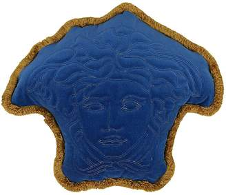 Versace Medusa Shaped Cotton Velvet Pillow