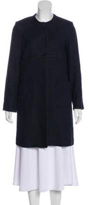 Paul & Joe Linen-Blend Knee-Length Coat