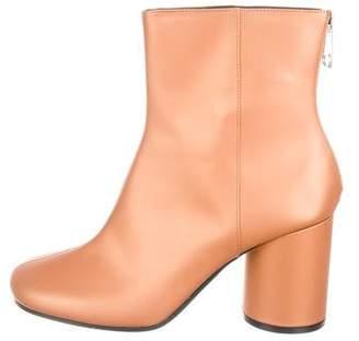 Maison Margiela Leather Square-Toe Ankle Boots