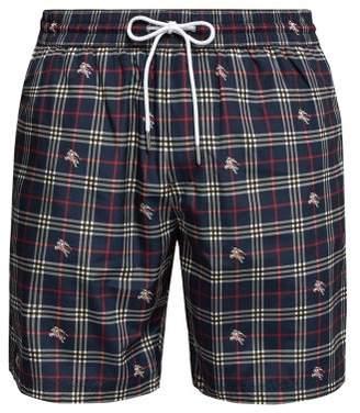 Burberry Knight Swim Shorts - Mens - Navy Multi