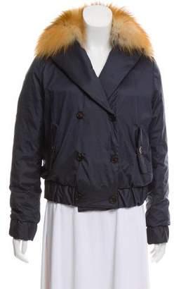 Brunello Cucinelli Fur-Trimmed Down Jacket