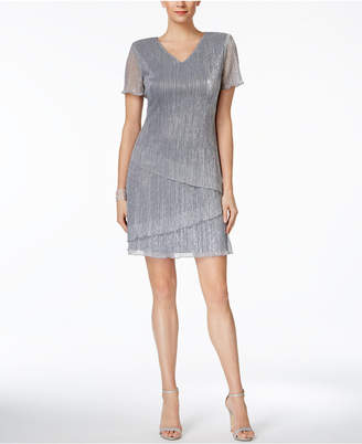 Connected Tiered Metallic Cocktail Dress $79 thestylecure.com