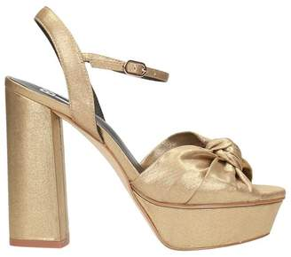 Bibi Lou Gold Leather Sandals
