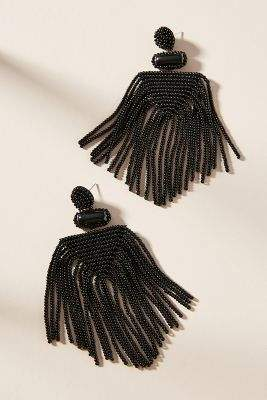Anthropologie Lima Beaded Drop Earrings