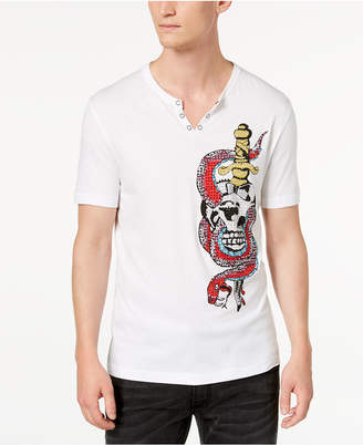 INC International Concepts I.n.c. Men's Snake Skull Graphic T-Shirt