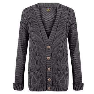 at Amazon Canada · BTG Ladies Boyfriend Cardigans Cable Knit Chunky Grandad  Pocket Button Womens Jumper 98da1b963