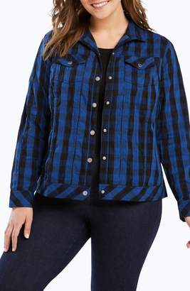 Foxcroft Tina Buffalo Plaid Jacket