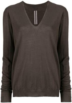Rick Owens loose v-neck jumper
