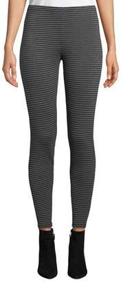 Eileen Fisher Striped Stretch Terry Ankle Leggings, Petite