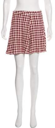 Reformation Gingham Mini Skirt