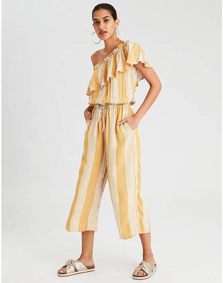 American Eagle AE One Shoulder Culotte Jumpsuit