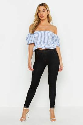boohoo Petite Turn Up Hem Jeggings