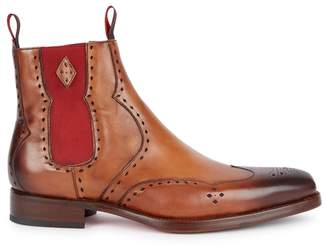 Jeffery West Novikov Brown Leather Chelsea Boots