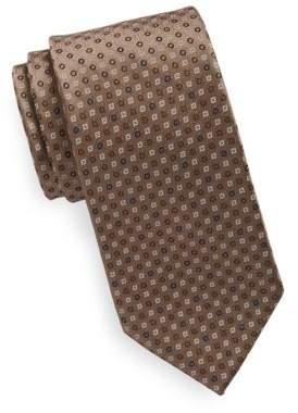 Black & Brown Black Brown Microdot Tie