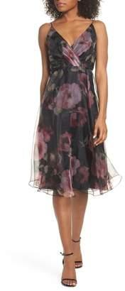 Jenny Yoo Sabrina Floral Chiffon A-Line Midi Dress